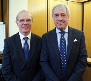 Ron Ball with Lord Lieutenant of Warwickshire Timothy Cox