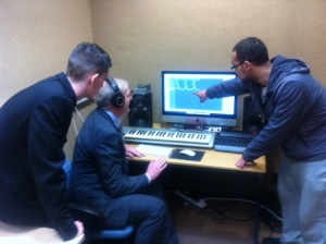 ron making music